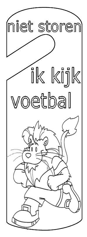 Kleurplaat Meiden Voetbal by Voetbal Deurhangers Allerlei Knutselidee Jouwweb Nl