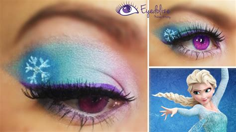 disney frozen elsa inspired eyeshadow  eyedolizemakeup youtube