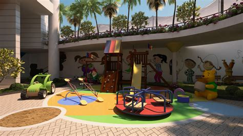 Beautiful Decoration Kids Play Area Outside For Hall