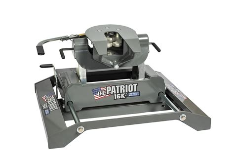 b w trailer hitches quietly unveils new patriot 16k rail mounted fifth wheel slider hitch at