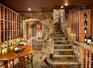Connoisseur39s delight 20 tasting room ideas to complete for Wine cellar design ideas