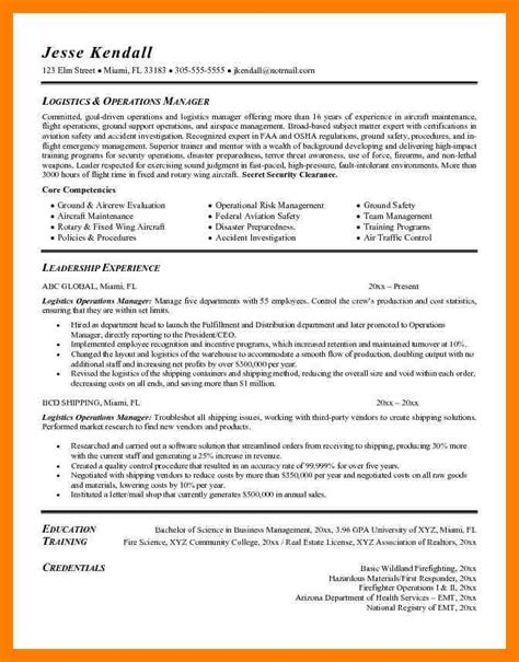 It Manager Resume Exles by 8 Logistic Resume Sle By Designs