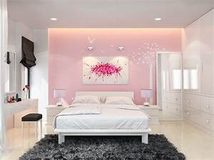 Pink, Bedroom, Wall, Paint, Ideas, Including, The, Advantage, U0026, Decoration