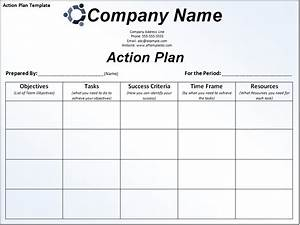 Business action plan template. | Excel Project Management ...