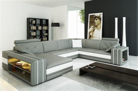 canape d angle 8 10 places canapé d 39 angle en cuir italien 8 places bentley gris