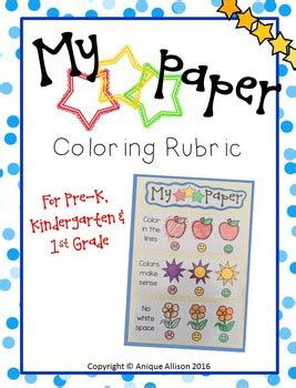 Coloring Rubric by My 3 Coloring Rubric By Anique Allison Teachers Pay