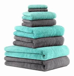 Handtücher Set Grau : betz 8 tlg handtuch set deluxe 100 baumwolle 2 badet cher 2 duscht cher 2 handt cher 2 ~ Indierocktalk.com Haus und Dekorationen