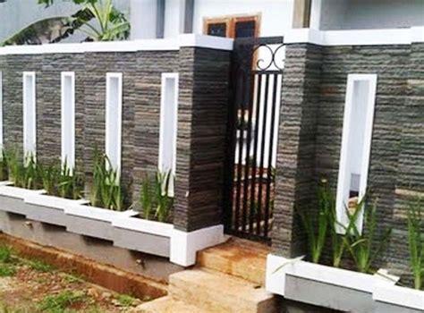 kombinasi cat rumah  dinding batu alam