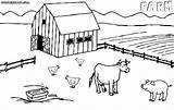 Farm Coloring Pages Print Colorings Building sketch template