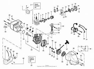 Poulan Featherlite Plus Gas Trimmer Parts Diagram For