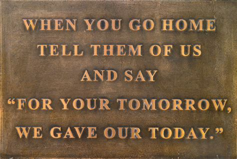 """When You Say Nothing At All: When You Go Home Tell Them Of Us And Say """"for Your Tomorro"""