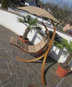 design hangeliege navassa mit gestell aus holz larche With französischer balkon mit garten hängesessel
