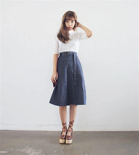 stylenanda pinstriped   skirt kstylick latest