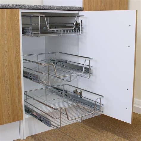 wire storage baskets for kitchen cabinets 3 pull out kitchen wire baskets slide out storage cupboard