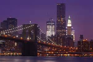 Brooklyn Bridge Skyline at Night