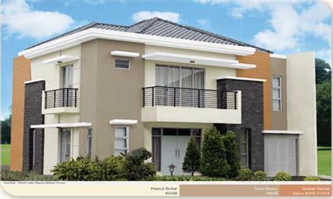 warna cat eksterior rumah minimalis dulux agape locs