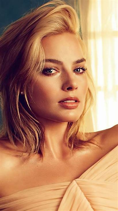 Robbie Margot Blonde Actress Photoshoot Mobile 4k