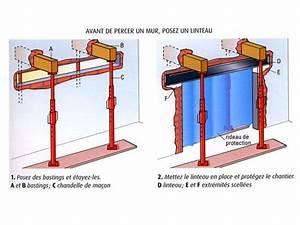 Faire Une Ouverture Dans Un Mur Porteur En Parpaing : percer ou abattre un mur ~ Melissatoandfro.com Idées de Décoration