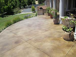 Remarkable colored concrete patios design stamped for Stained concrete patio pictures