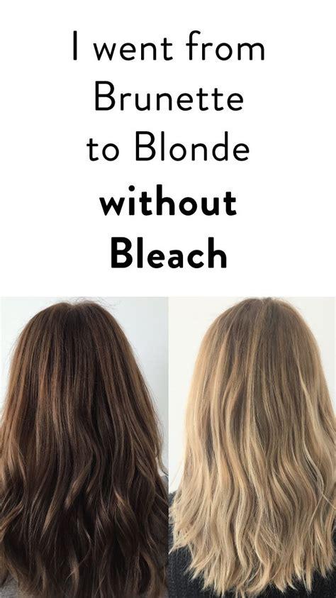brunette  blonde  bleach