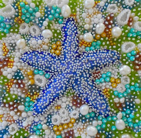handmade coral reef textures  contemporary seed bead embroidery  eleanor pigman custommadecom