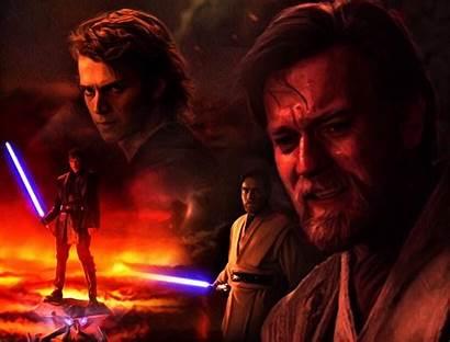 Obi Wan Anakin Vs Kenobi Skywalker Wars