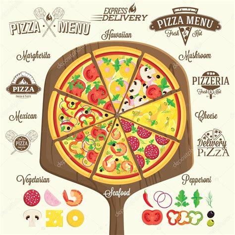 Decorator Pattern Java Pizza by Elementos De 250 Las Etiquetas Y Dise 241 O De Pizza