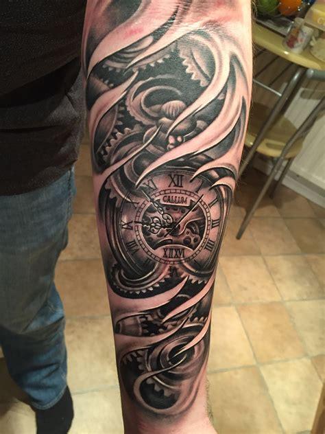tattoo tattoos tattoos clock tattoo design forearm