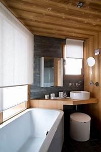 Salle De Bain En L : d co salle de bain photos de salles de bains qui optimisent l 39 espace c t maison ~ Melissatoandfro.com Idées de Décoration
