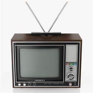 Old Tv Sony Trinitron 3d Model