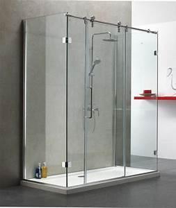 le guide de la porte de douche consobricocom With porte de douche coulissante avec porte serviette pivotant salle bain