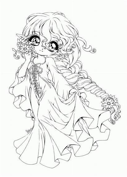 Coloring Anime Princess Gothic Fairy Popular