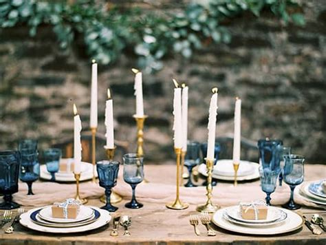 elegant navy  champagne wedding inspiration