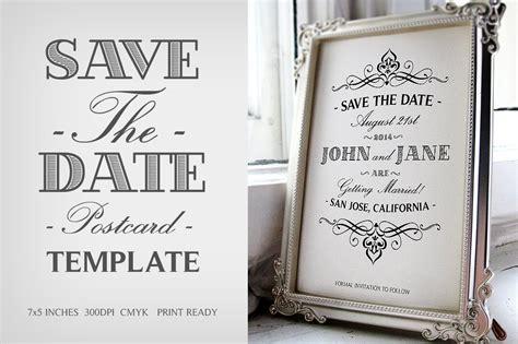 save  date postcard template  wedding templates