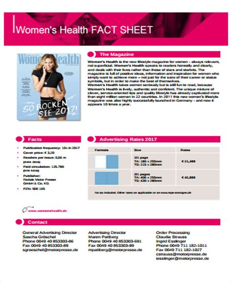 fact sheet templates  premium templates