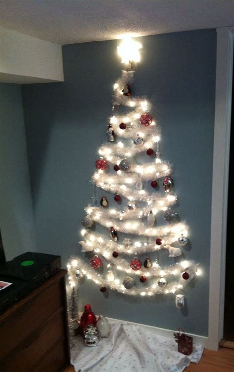 wall christmas tree for small spaces korea pinterest