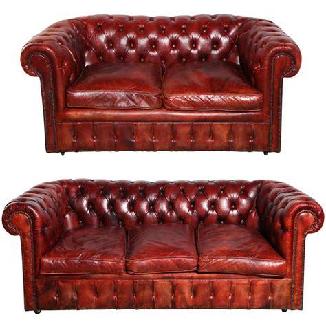 mahogany red leather chesterfield sleeper sofa