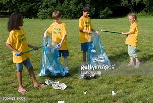 Children Cleaning Up Park Stock Photo | Getty Images