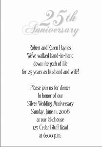 25th wedding anniversary invitations With marriage anniversary invitation letter