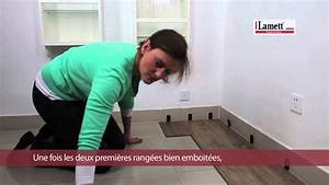 Pose Dalle Pvc Sur Carrelage : pose vinyle clipsable de lamett youtube ~ Dailycaller-alerts.com Idées de Décoration