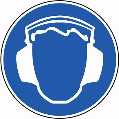 Ear Protection Hearing Label Clipart Symbol Wear