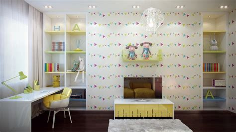 Bright And Colorful Kids Room Designs With Whimsical Artistic Features : Interior Design Ideas