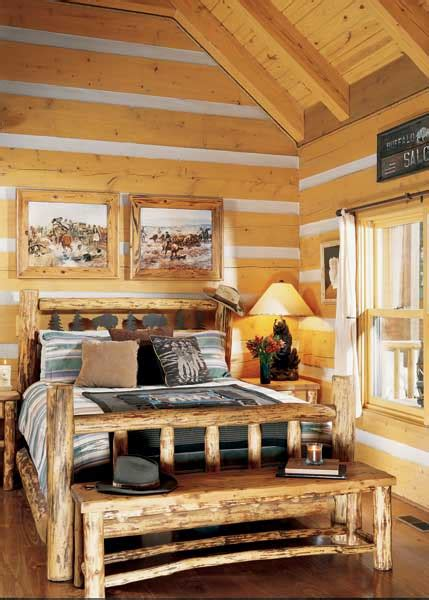 Log Cabin Master Bedroom Decorating Ideas(61) Home