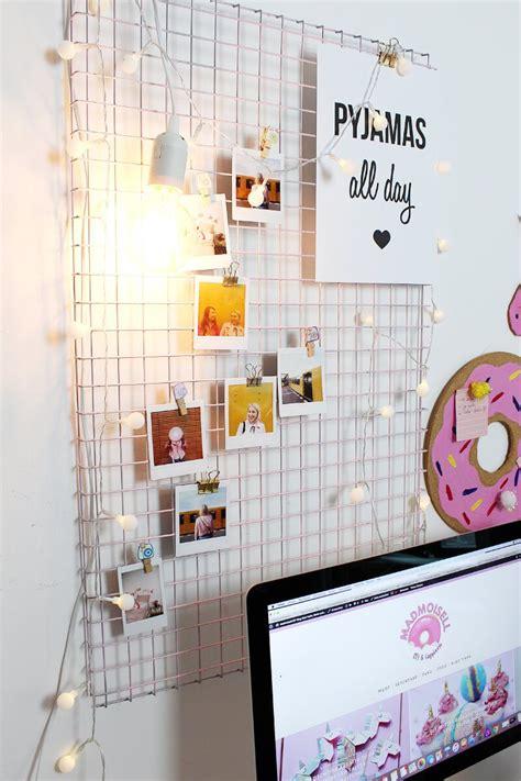 Schreibtisch Deko Ideen by Diy Fotowand Selber Machen Schreibtisch Deko Basteln