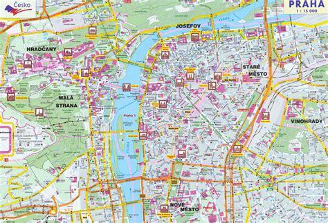 maps  prague detailed map  prague  english maps