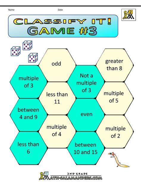 Addition Math Games 2nd Grade