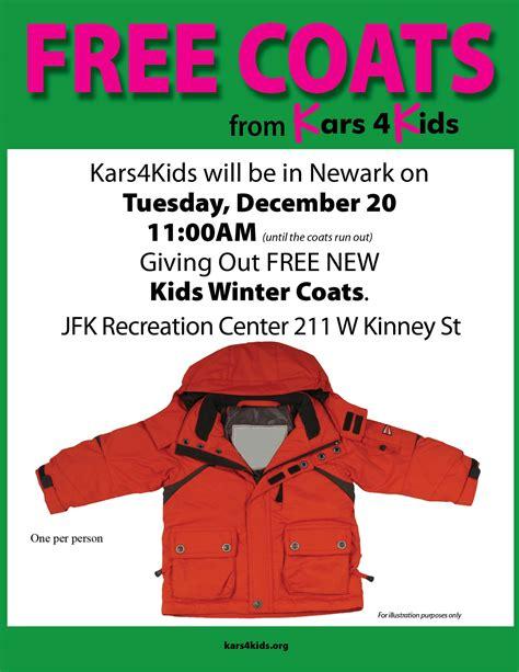 Kars4Kids Car Donation Program Free Coat Giveaway for