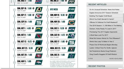 philadelphia eagles  nfl schedule predictions youtube