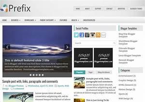 Prefix Responsive Blogger Template 2015 Free Themes