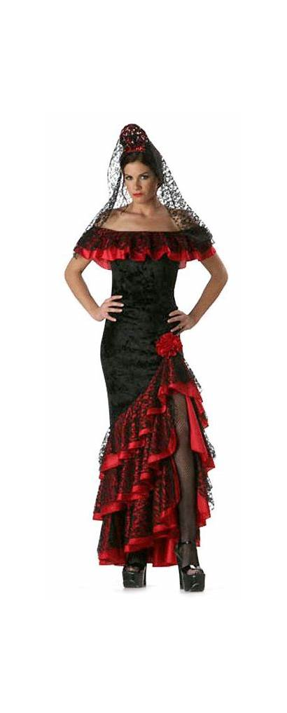 Costume Senorita Spanish Mexican Fancy Costumes Spain